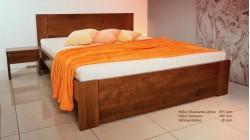 postel CUBUS 1 buk morený na orech